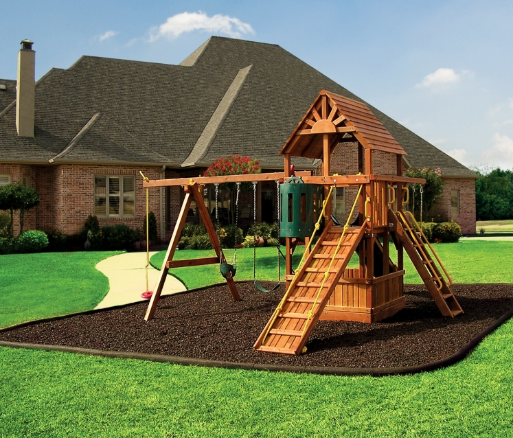 Brown Rubber Mulch For Playgrounds