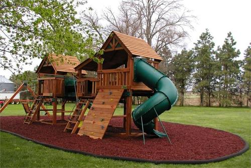 Red Rubber Mulch For Playgrounds