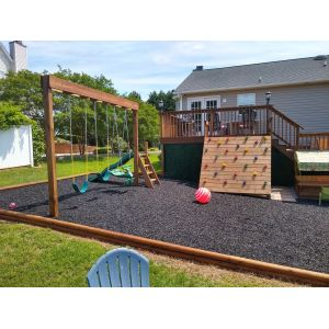Black Rubber Mulch Customer Photo 2