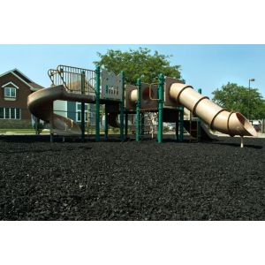 Black Rubber Mulch Customer Photo 1