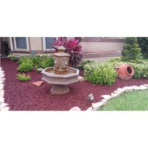 Red Rubber Mulch Landscape Customer Photo 2