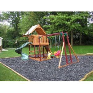 Unpainted Black Rubber Mulch Customer Photo 1